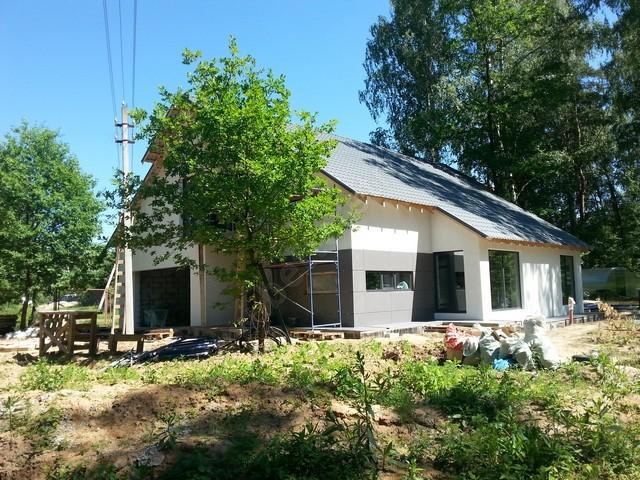 Деревянные дома окраска фасада фото